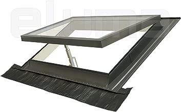completa modelo COMFORT VASISTAS//Claraboya certificada y altamente aislante//Apertura tipo Velux//Vidrio antigranizo Ventana para tejado Vidrio de seguridad//Aluminio y Madera 55x78 Base x Altura