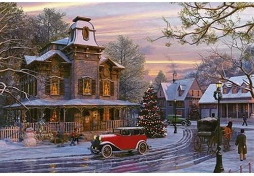 Shuminang Jigsaw Puzzle 1000 Pieces Car Christmas Finally resale start Autumn New life Leaves