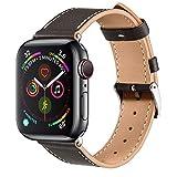 BRG コンパチブル apple watch バンド,本革 ビジネススタイル アップルウォッチバンド アップルウォッチ4 apple watch series5/4/3/2/1 レザー製(38mm/40mm,黒檀)