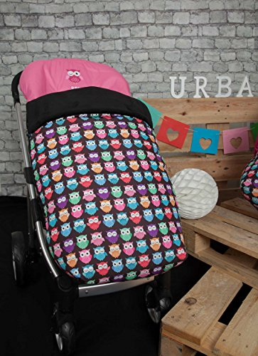 Babyline Estampado Búhos - Saco para silla de paseo, color rosa