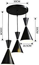 LHQ-HQ Pendant Lamps 3-Story Restaurant Chandeliers, Retro Style Chandeliers Study Bedroom Round Shade Decoration E27 Max 40 W,A Ceiling lamp (Color : A)