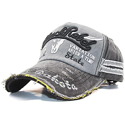 Dariobee Cappello Uomo Vintage Cappellino con Visiera Estivo Ricamato Berretto da Baseball Unisex Hip Hop Sport Cappellino per Uomo Donna