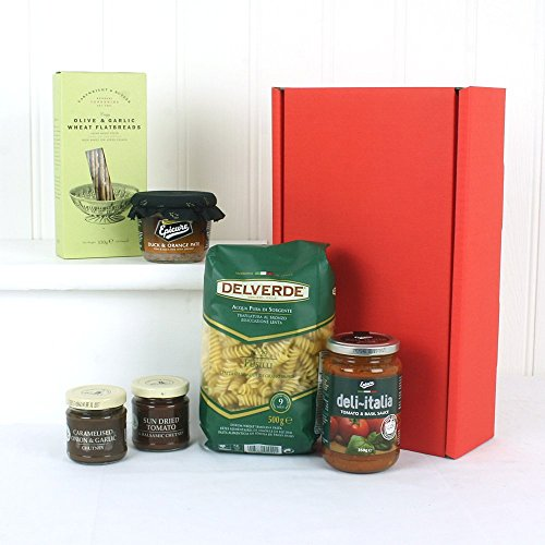 Pasta & Pate Delights Food Hamper - Gift Ideas for Mum, Mothers Day, Christmas presents, Birthday, Students, him, her, Grandma, Grandad, Son, Daughter