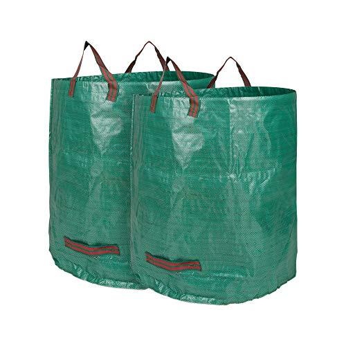 Edaygo Gartenabfallsack Laubsack Gartensack aus Polypropylen-Gewebe (PP), 272 Liter, 2 Stück