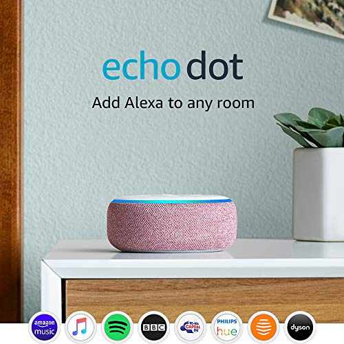 Echo Dot (3rd Gen) - Smart speaker with Alexa - Plum Fabric