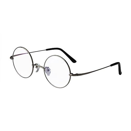 49fccb35e Agstum Pure Titanium Retro Round Prescription Eyeglasses Frame 44-24-140