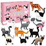 CiyvoLyeen Kitten Craft Kit Kids DIY Crafting and Sewing Set Kitty Cat Stuffed Animal Felt Plushies for Girls and Boys Educational Beginners Sewing Gift Ideas