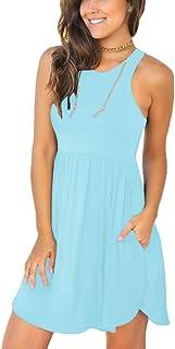 LONGYUAN Women's Summer Casual T Shirt Dresses Swimsuit...