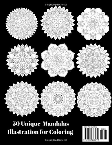 『3D Mandalas Coloring Book for Adult Relaxation: 50 Greatest Mandalas Coloring Book Adult Coloring Book 50 Mandala Images Stress Management Coloring Book For Relaxation,』の1枚目の画像