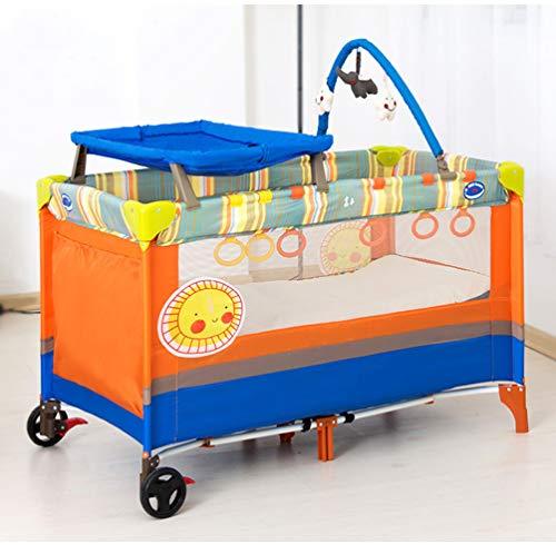 BCB Sleep N Play Go, Lit de Voyage de la Naissance à 3 Ans, lit Pliant en 125 * 65 * 77 cm, léger, résistant à l'inclinaison, Sac de Transport, deuxième Niveau pour Nourrissons/bébés