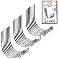 (24pc) - 24pc Set ALAZCO Super Hooks - Hang Pictures without ANY TOOL, Hammer, Nails or Drilling As Seen on TV