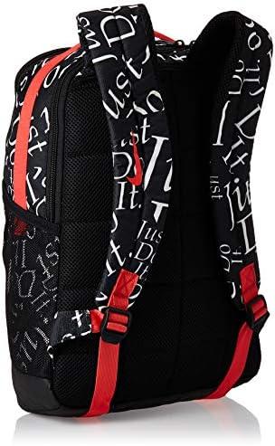 Nike Kids Brasilia Just Do It Backpack (Little Kids/Big Kids) Black/Track Red/Track Red One Size