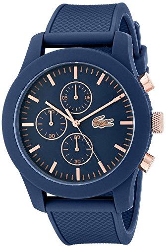 Lacoste - Herren -Armbanduhr 2010827,blau (blau/rosa gold)