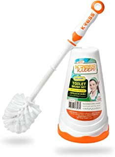 KRESS Kleen 8117 Deluxe Toilet Brush Set, Orange