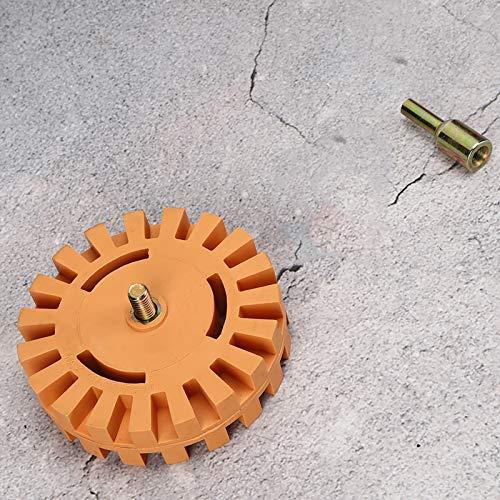 Rueda limpiadora Removedor de pegamento Rueda de goma neumática de 25 mm de diámetro para limpieza