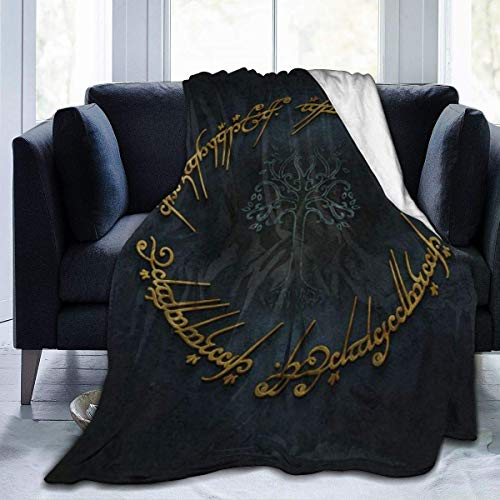 huancheng Lord Ring Throw Blanket Warm and Comfortable Printing Super Light UltraSoft Fuzzy Micro Fleece Blanket,for Sofa, Lap,Travel,Bed