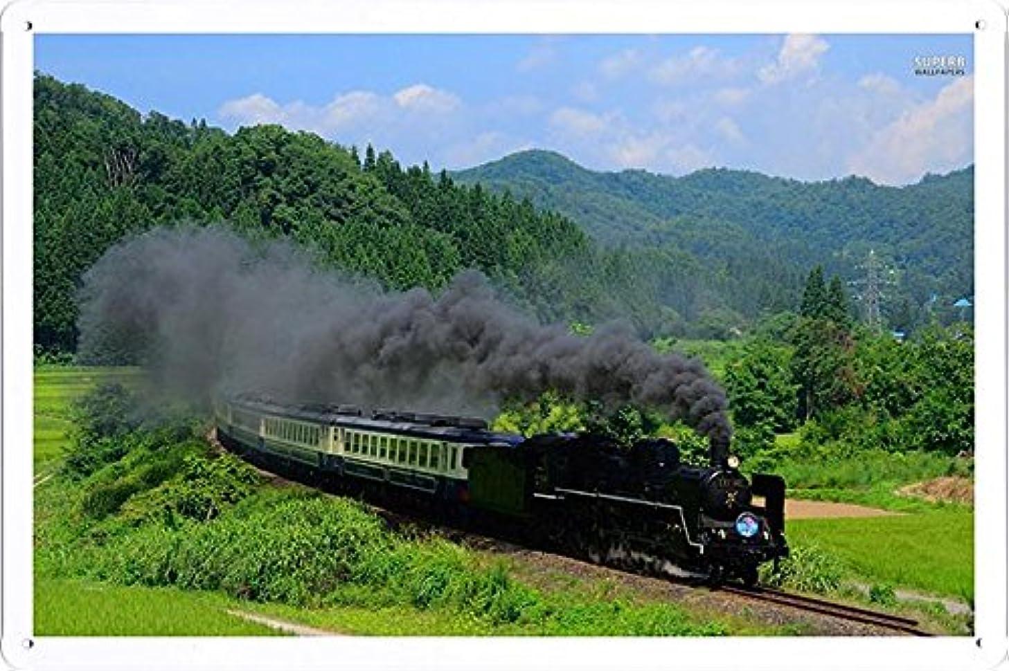Steam Locomotive 23695 Tin Poster by Food & Beverage Decor Sign