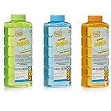 KreativeKraft Liquido Pompas de Jabon, Pack de 3 Botellas para Hacer Burbujas de Jabon Niños, Apto para Maquina Pompas Jabon o Pistolas de Burbujas, Regalos para Juegos al Aire Libre