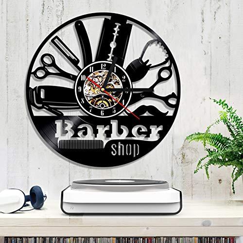 Coiffeur coiffure coiffure Barbershop Barber Shop vinyle record horloge murale Decor cadeau à la main,12inches