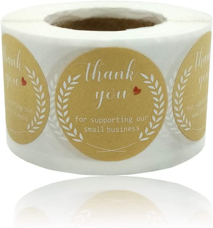 Thank Recommended You Stickers Rolls Labels Small Indianapolis Mall Business for 1