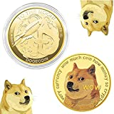 [Exclusive Design] 2 PCS exquisite patterns for a permanent valuable collection, also to show your love and support with the dogecoin gold coins. [High Quality] High Precision Manufacturing, the Dogecoin made from sturdy metal and gold plated to acqu...