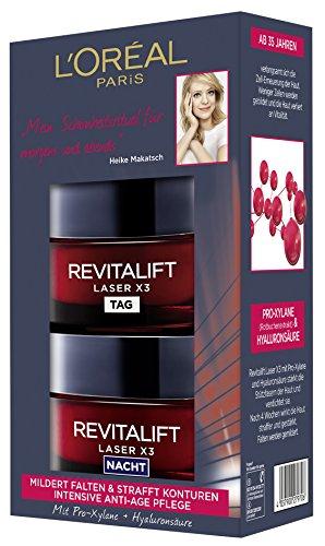 L 'Oréal Paris revitalift Laser X3Día y Noche Cuidado Facial de Juego
