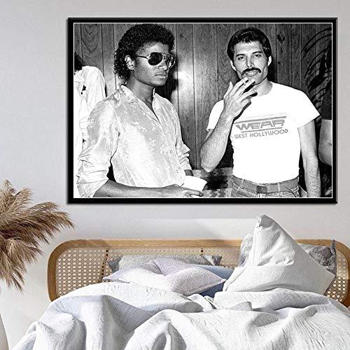 WSHIYI Art Decor Freddie Mercury Michael Jackson Cantante