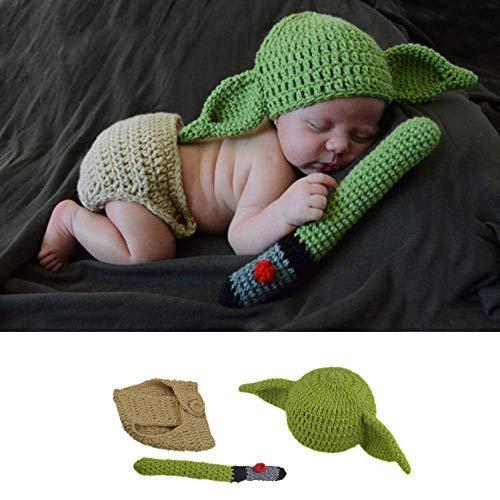 Little Sweetz ** Baby FotoShooting Kostüm Newborn ** Fotografie Props - Made with Love - HäkelDesign (Yoda)