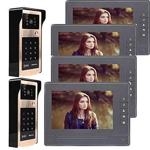 QZH Kit Timbre intercomunicación Video Cable, Timbre
