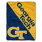 The Northwest Company Georgia Tech Yellow Jackets 'Halftone' Micro Raschel Throw Blanket, 46' x 60' , Blue