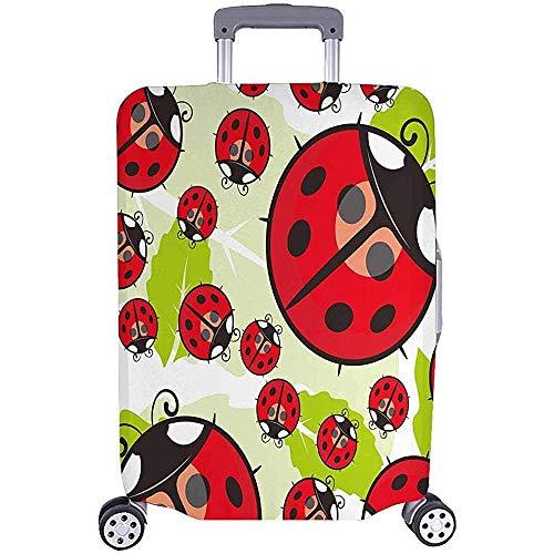 Fundas de Maletas Protectores de Equipaje de Viaje Papel Tapiz Ladybug Equipaje Equipaje Talla M