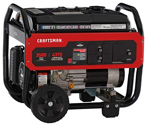 Craftsman 3500W Portable Generator with CO Detection and RV Outlet,Powered by Briggs & Stratton, 030729
