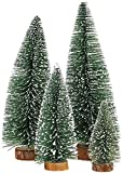 Uniprime Mini Christmas, Small Pine Wooden Bases for Xmas Holiday Party Home Tabletop Tree Decor (4pcs)