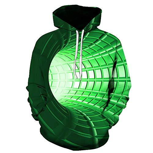 Zaima 3D Sweatshirt Frauen Männer Pullover Vortex Hoodies Oberbekleidung Lose Oberteile Psychedelische Kleidung Hoodie Sweater Hooded Baseball Uniform