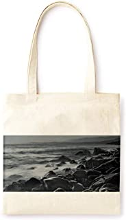 Cotton Canvas Tote Bag Modern Sea Reef Night Farmhouse Style Party Printed Casual Large Shopping Bag for School Picnic Travel Groceries Books Handbag Design