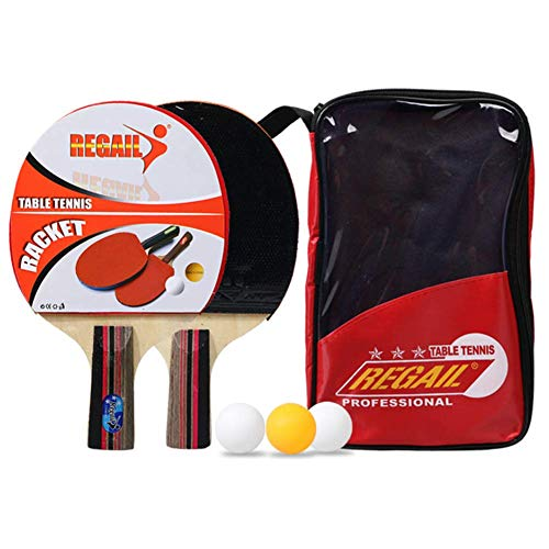 Best Price ATYMD Table Tennis Bundle, Portable Pen-Holding Style Ping Pong Paddle Set, 2 Player Set ...