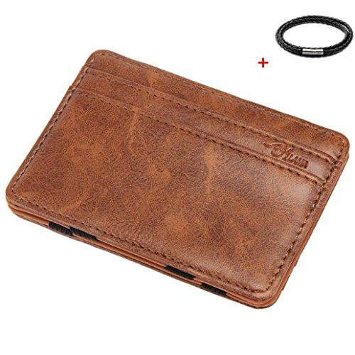 Malloom Mini Neutro magico Portafoglio Bifold di cuoio di lusso supporto di carta borsa del portafoglio