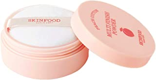 SKINFOOD Peach Cotton Multi Finish Powder 5g - Peach Extract & Calamin Powder Contained Sebum Control Silky Powder for Oily Skin, Sweet Peach Scent with Baby Skin