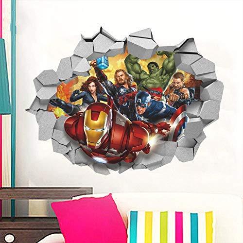3d Broken Wall Avengers Wall Stickers Umweltfreundliche Entfernbare Aufkleber