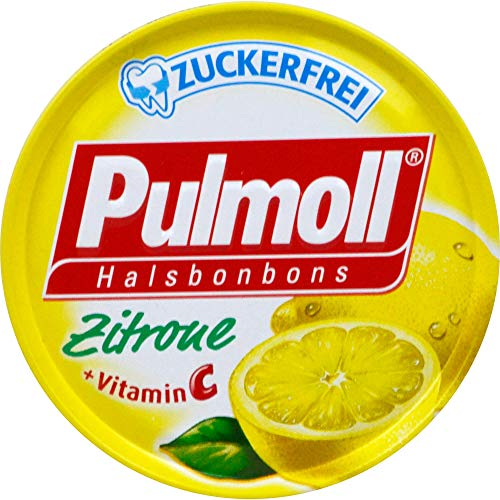 Pulmoll Halsbonbons Zitrone + Vitamin C zuckerfrei, 50 g Bonbons
