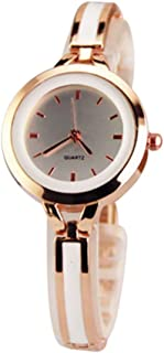 Anself Women Fashion Elegant Quartz Watches Lady Graceful Bangle Watch Trendy Super Slim Wristwatch (Gold)