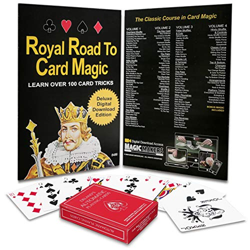 Royal Road to Card Magic - The Complete Course in Card Tricks - Bonus Automatic Deck Trick Cards Included