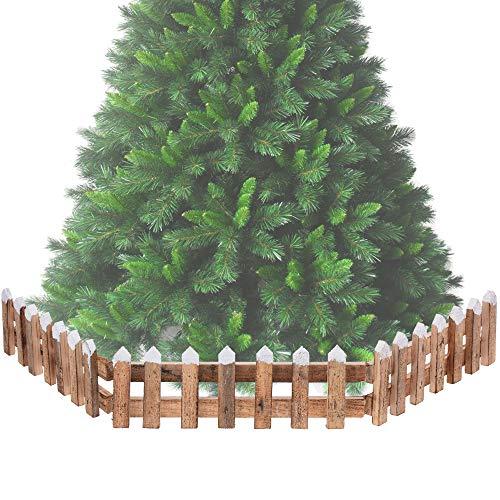 URBN Toys Weihnachtsbaum-Zaun, Naturholz, 1 oder 2 Stück