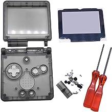 Meijunter Transparent Clear Full Housing Shell Case Repair Parts Kit w/Lens&Screwdriver for Nintendo Gameboy Advance SP GB...