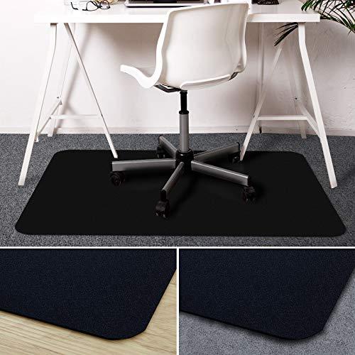 Office Marshal Black Office Chair Mat - 30