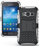 NAKEDCELLPHONE White Grenade Rugged TPU Skin Hard CASE Cover Stand for Samsung Galaxy ACE-4 (Lite G313 G313H)