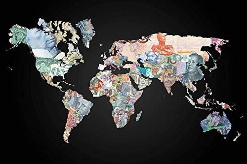 USDFYU Puzzles Madera Rompecabezas 1000 Piezas,Billete Mapa