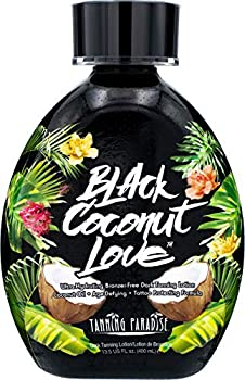 Tanning Paradise Black Coconut Love Tanning Lotion | Coconut Oil | Age-Defying | Tattoo Protecting Formula | Ultra Hydrating Dark Tanning Lotion 13.5oz