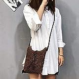 Dedeka Bolso Bandolera de Paja, japonés y surcoreano Hansenne Style Summer Fresh Paper Bolso de Paja de Paja, Bolso de Bandolera Tejido a Mano, Lady Beach Mini Messenger Bag