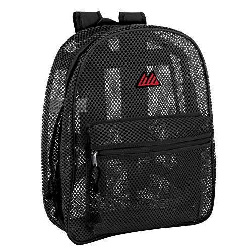 Mesh Backpacks for Kids, Adults, School, Beach, and Travel, Colorful Transparent Mesh Backpacks with...